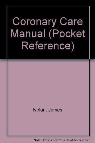 9780192623140: Coronary Care Manual (Pocket Reference)