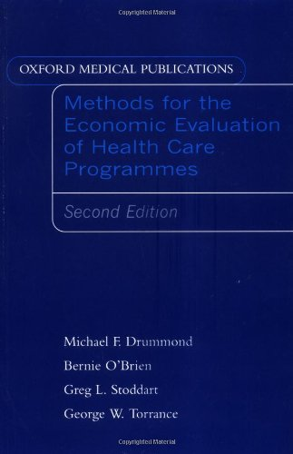 Methods for the Economic Evaluation of Health: Bernard J. O'Brien;