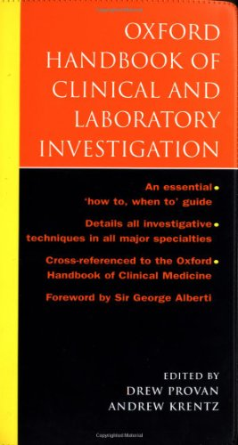 9780192632838: Oxford Handbook of Clinical and Laboratory Investigation (Oxford Handbooks Series)