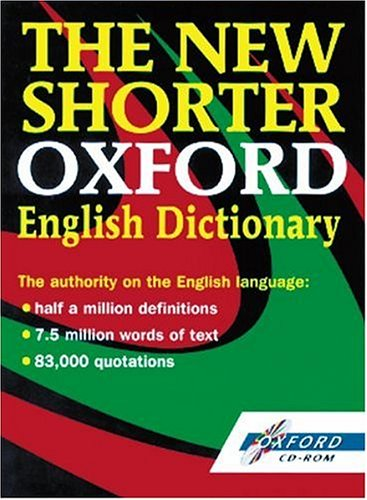 9780192683021: The New Shorter Oxford English Dictionary: Windows