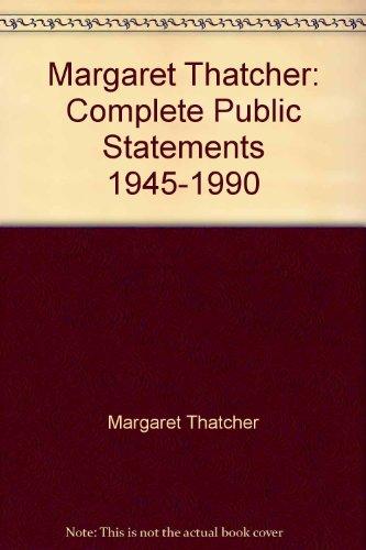 9780192687654: Margaret Thatcher: Complete Public Statements 1945-1990