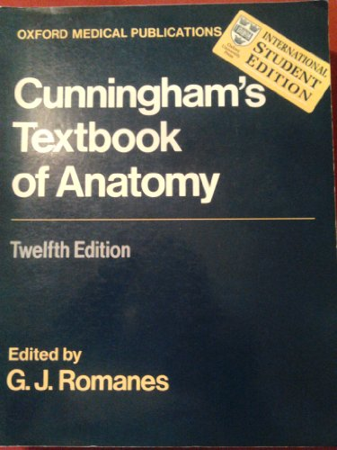 9780192690319: Cunningham's Textbook of Anatomy (International Student Edition)