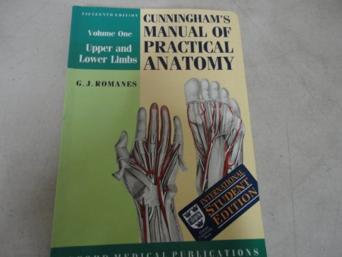 9780192690326: Cunningham's Manual of Practical Anatomy: Upper and Lower Limbs (International Student Edition)