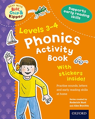 9780192734457: Phonics Activity Book, Levels 3-4 (Read with Biff, Chip, and Kipper)