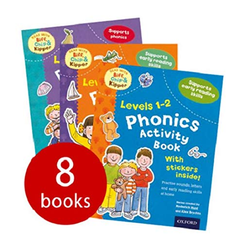 9780192734846: Phonics and Reading skills Pack (Oxford Reading Tree) 8 activity books with stickers. RRP £31.92