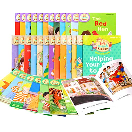 9780192739858: Read with Biff, Chip & Kipper Set Phonics and First Stories 33 Books Collection Level 1-3