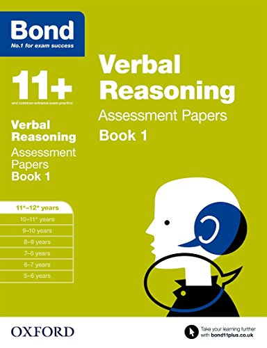 9780192740373: Bond 11+: Verbal Reasoning: Assessment Papers: 11+-12+ years Book 1
