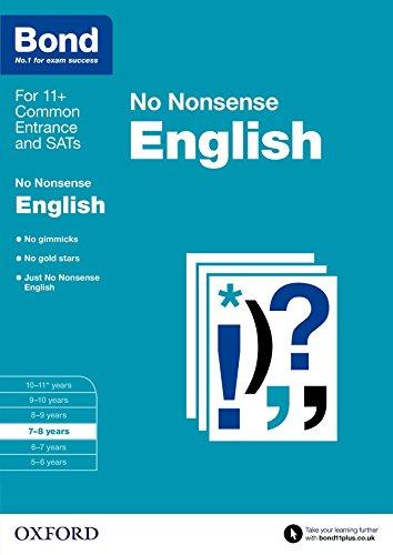 9780192740410: Bond 11+: English: No Nonsense