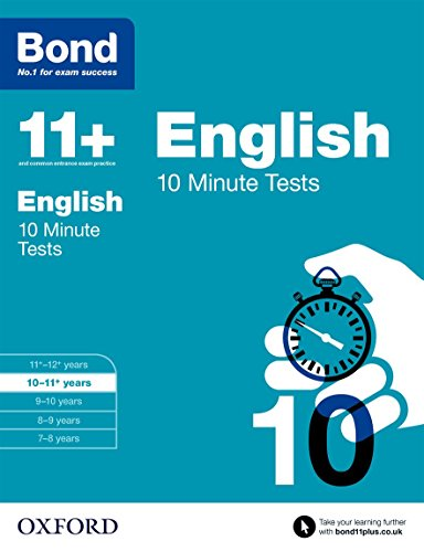9780192740540: Bond 11+: English: 10 Minute Tests: 10-11+ years