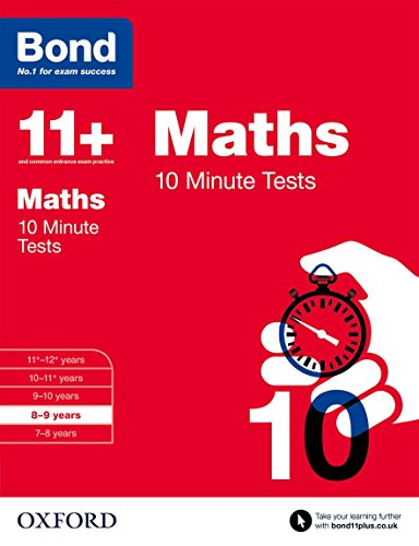 9780192740571: Bond 11+: Maths: 10 Minute Tests: 8-9 years