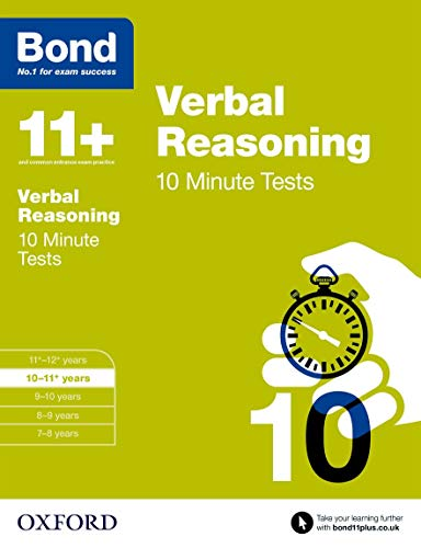9780192740694: Bond 11+: Verbal Reasoning: 10 Minute Tests: 10-11+ years