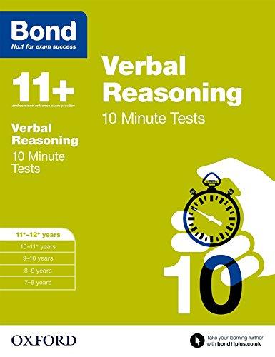 9780192740700: Bond 11+: Verbal Reasoning: 10 Minute Tests: 11+-12+ years
