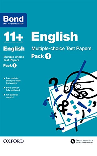 9780192740830: Bond 11+: English Multiple-choice Test Papers: Pack 1
