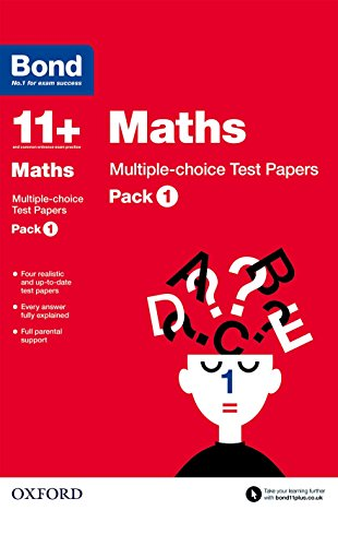 9780192740854: Bond 11+: Maths: Multiple-choice Test Papers: Pack 1