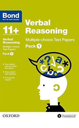 9780192740892: Bond 11+: Verbal Reasoning: Multiple Choice Test Paperspack 1