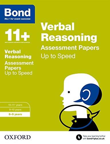 9780192741004: Bond 11+: Verbal Reasoning: Up to Speed Papers