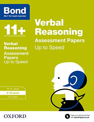 9780192741424: Bond 11+: Verbal Reasoning: Up to Speed Papers