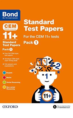 9780192742186: Bond 11+: Cem: Standard Test Paperspack 1