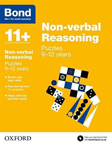 9780192742223: Bond 11+: Non Verbal Reasoning: Puzzles
