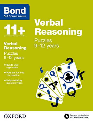 9780192742230: Bond 11+: Verbal Reasoning: Puzzles