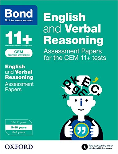 9780192742834: Bond 11+: English and Verbal Reasoning: Assessment Papers for CEM: 9-10 years