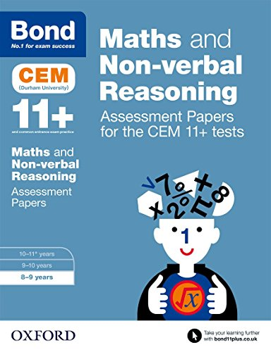 9780192742858: Bond 11+: Maths and Non-Verbal Reasoning: Assessment Papers for the Cem 11+ Tests