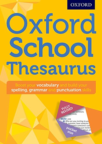 9780192747112: Oxford School Thesaurus (Oxford Thesaurus)