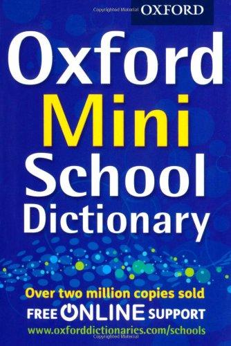9780192756954: Oxford Mini School Dictionary