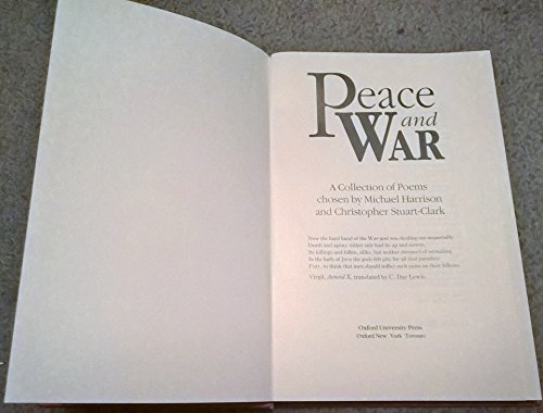 9780192760692: Peace and War: A Collection of Poems