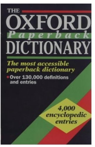 9780192800121: The Oxford Paperback Dictionary