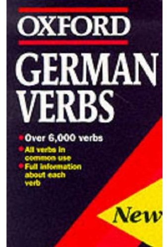 9780192800190: German Verbs (Oxford Quick Reference)