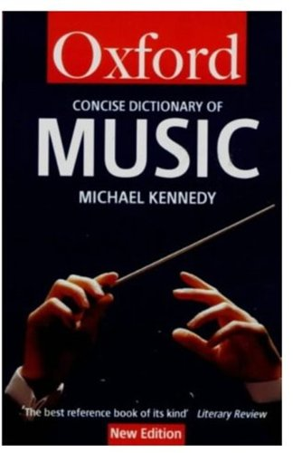 9780192800374: The Concise Oxford Dictionary of Music (Oxford Quick Reference)