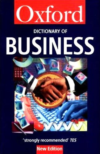 9780192800473: A Dictionary of Business (Oxford Quick Reference)