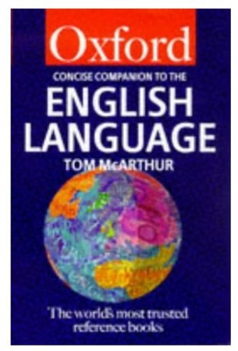 9780192800619: The Concise Oxford Companion to the English Language (Oxford Paperback Reference)