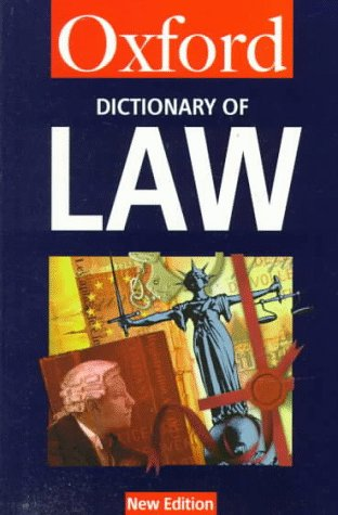 9780192800664: A Dictionary of Law (Oxford Quick Reference)
