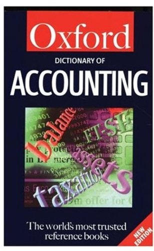 Oxford Dictionary of Accounting: Roger Hussey