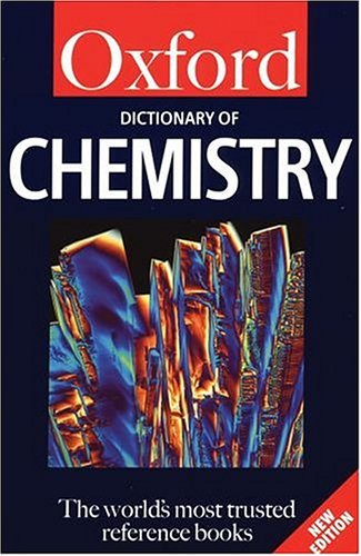 9780192801012: A Dictionary of Chemistry (Oxford Quick Reference)