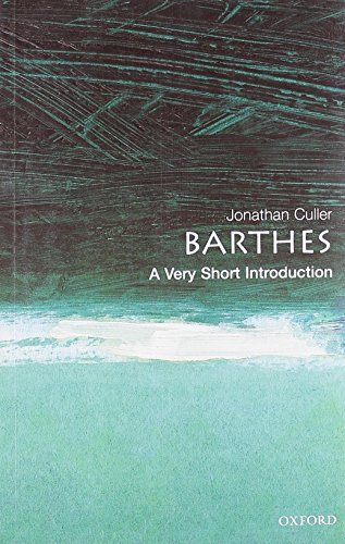 9780192801593: Barthes: A Very Short Introduction