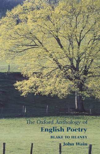The Oxford Anthology of English Poetry: Volume: John Wain, Jay