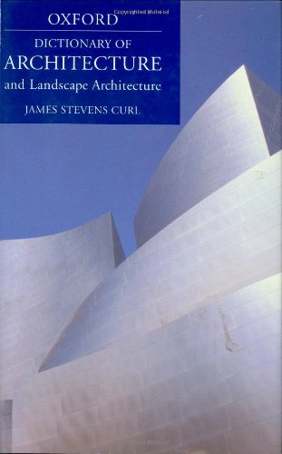 9780192806307: A Dictionary of Architecture and Landscape Architecture