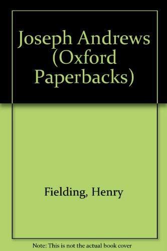 9780192810984: Joseph Andrews (Oxford Paperbacks)