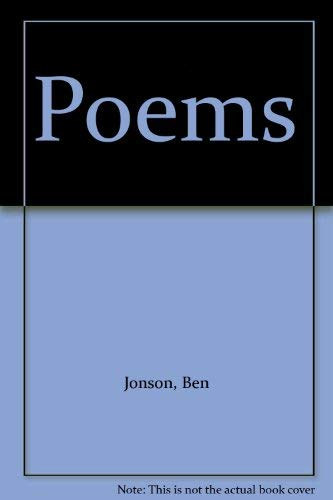 Poems: Jonson, Ben