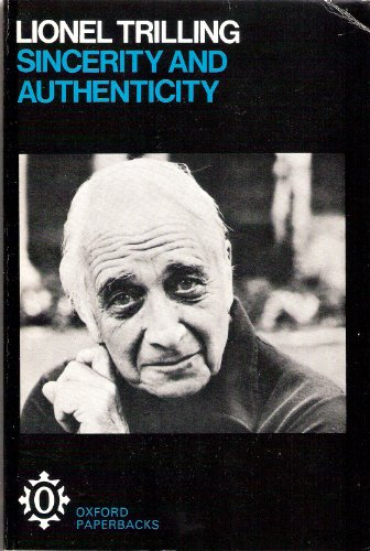 9780192811660: Trilling: Sincerity and Authenticity
