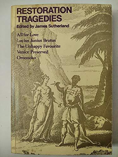 Restoration Tragedies (Oxford Paperbacks)