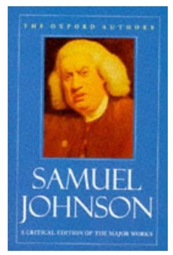 9780192813404: Samuel Johnson (The Oxford Authors)