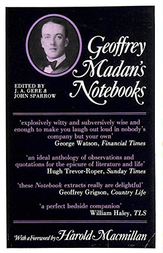 9780192818706: Geoffrey Madan's Notebooks (Oxford Paperbacks)