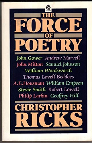 9780192820464: The Force of Poetry