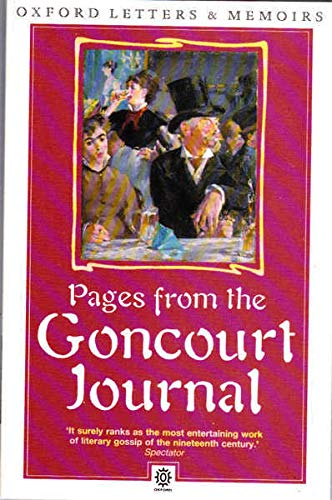 9780192821928: Pages from the Goncourt Journal (Oxford paperbacks - Oxford letters & memoirs)
