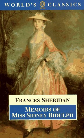 9780192823083: Memoirs of Miss Sidney Bidulph (The World's Classics)