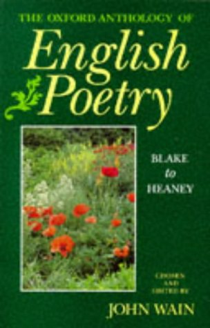 9780192827982: The Oxford Anthology of English Poetry: Blake to Heaney v.2: Blake to Heaney Vol 2